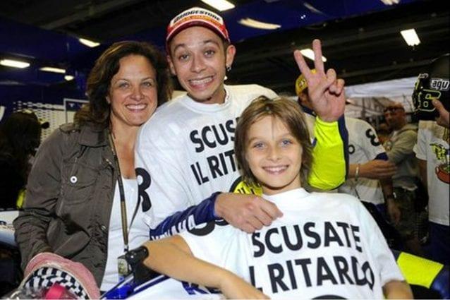 Luca a 11 anni con mamma Stefania festeggiano Valentino per iltitolo 2008