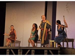 Da sinistra: Antonella Piccolo, Debora Caprioglio, Enzo Casertano, Chiara Cavalieri