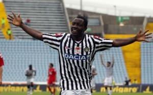Asamoah festeggia una vittoria