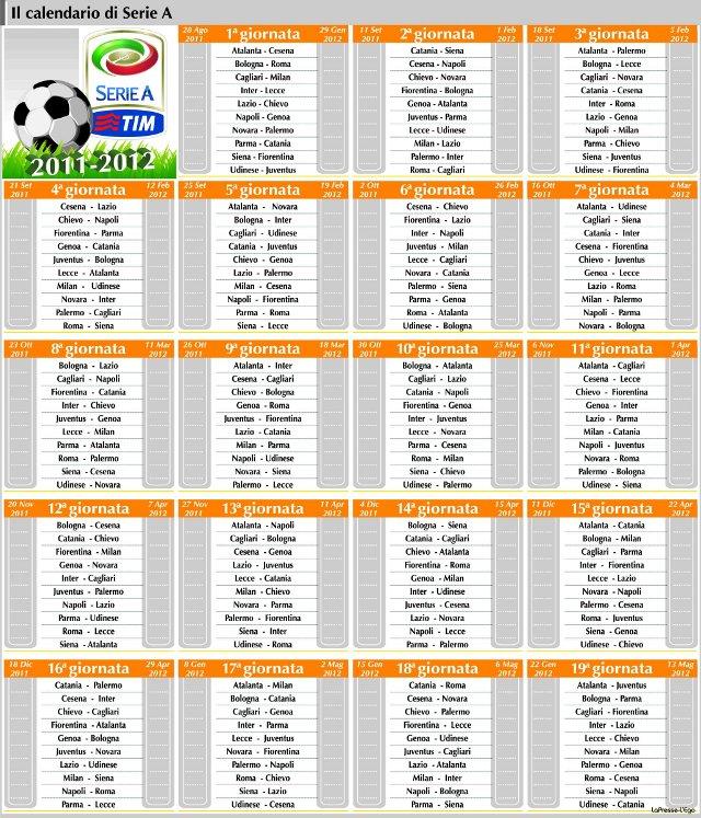 Ecco il tabellone completo della prossima stagione di Serie A