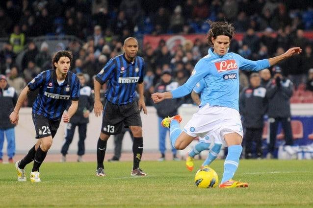 Napoli-Inter 2-0 Cavani Coppa Italia