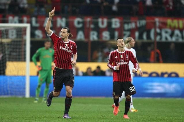 Ibrahimovic Milan-Roma 2-1 Osvaldo