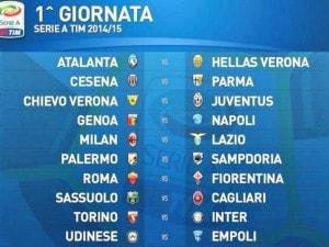 Calendario 15 Giornata Serie A.Serie A 2014 2015 Sorteggio Calendario In Diretta Live Le