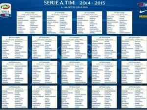 Serie A Tim Calendario.Calendario Serie A 2014
