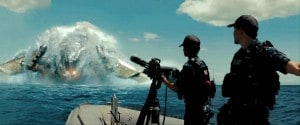 Battleship - war scene