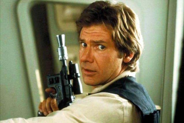 Harrison Ford nel ruolo di Han Solo