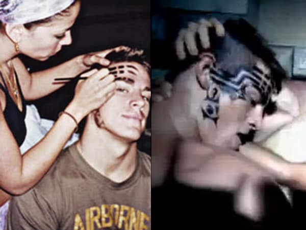 """Channing Tatum al trucco prima di girare il video di """"She Bangs"""""""