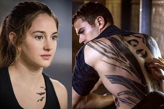 """Divergent, i tatuaggi di Tris e Four: """"Ispirati al Costruttivismo, realizzati in tre ore"""""""