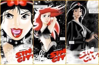 Se le principesse Disney vivessero a Sin City (FOTO)