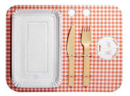 E' di Steven Cichon questo esempio di design eco compatibile applicato al servizio del cibo.