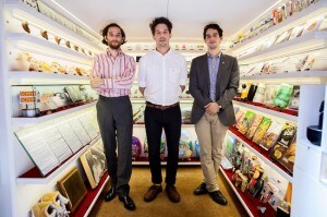 Museum's founders, from left, Josh Safdie, Alex Kalman and Benny Safdie, have been friends since high school. (photo Brian Harkin)