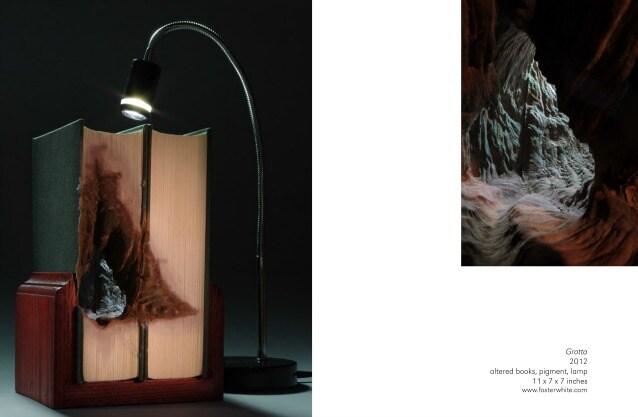 "Guy Laramée ""Caverna"" 2013 paper. 10 x 10 x 8 in. www.fosterwhite.com"