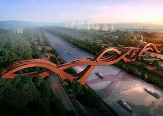 Un ponte pedonale a forma di nodo per la Cina del futuro