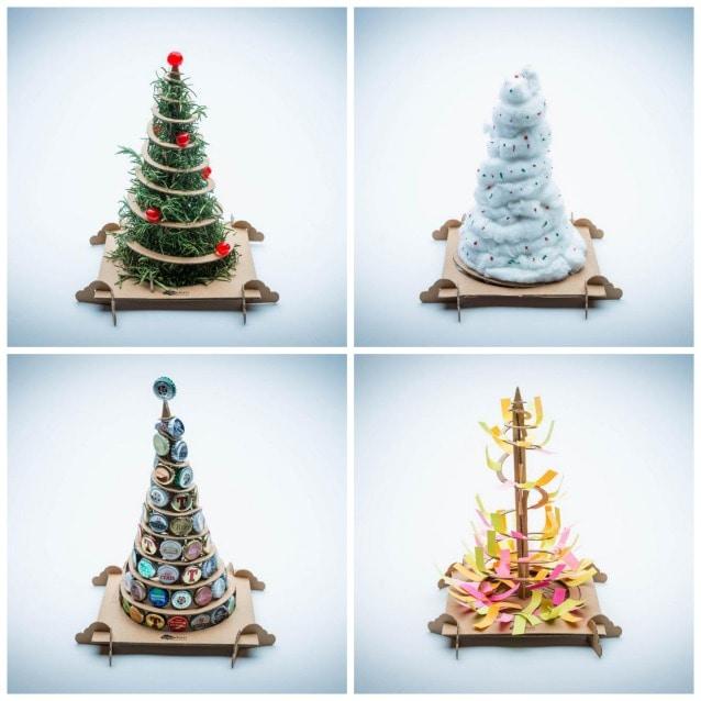 Alberi Di Natale Fai Da Te Treebox Da Un Albero Di Cartone Ne