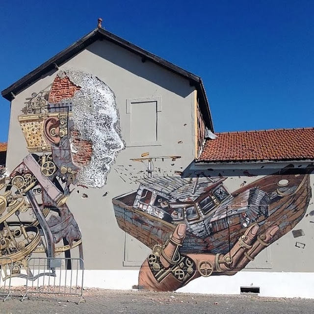Vhils x Pixel Pancho – Lisbon, Portugal. Foto by Anya Dedovich, isadisaster, Elisabetta Ricio