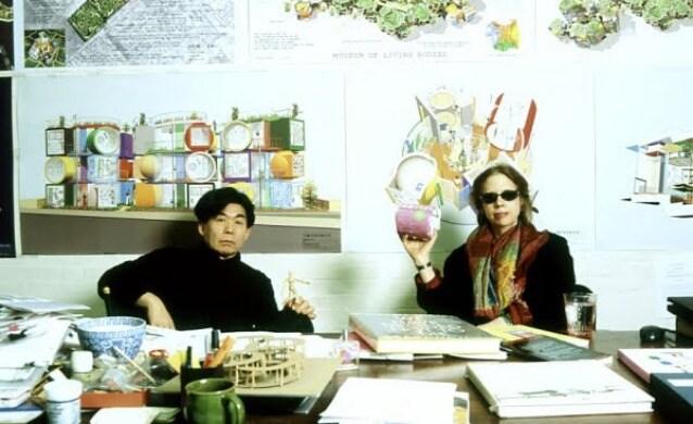 Madeline Gins e marito Shusaku Arakawa (Photo Reversible Destiny Foundation)