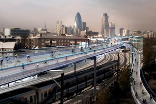 Foster progetta Skycycle: una Londra fatta per le bici