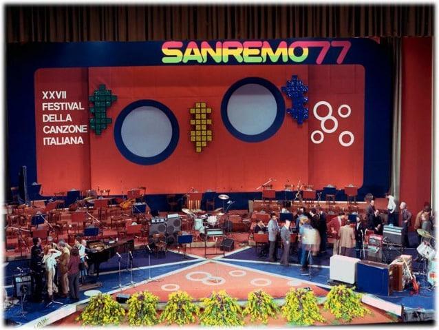Sanremo 1977. Foto dal sito aristonsanremo.com