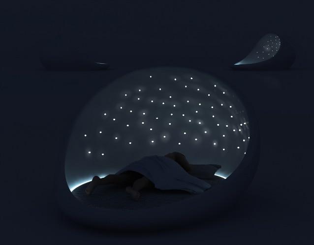 Cosmos bed un letto stellato per la notte di san valentino