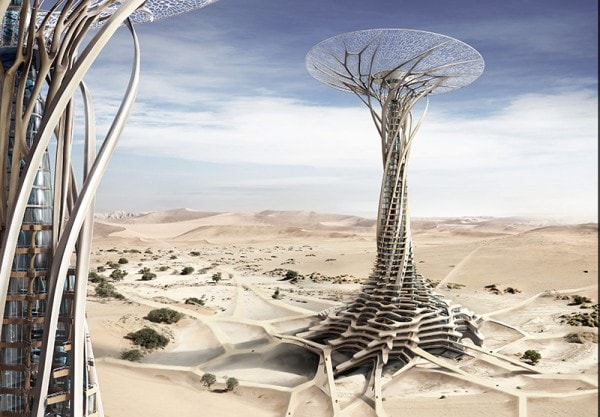 Honourable Mention: Sand Babel: Solar–Powered 3D Printed Tower.