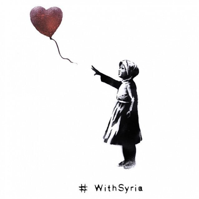 Banksy #WithSyria