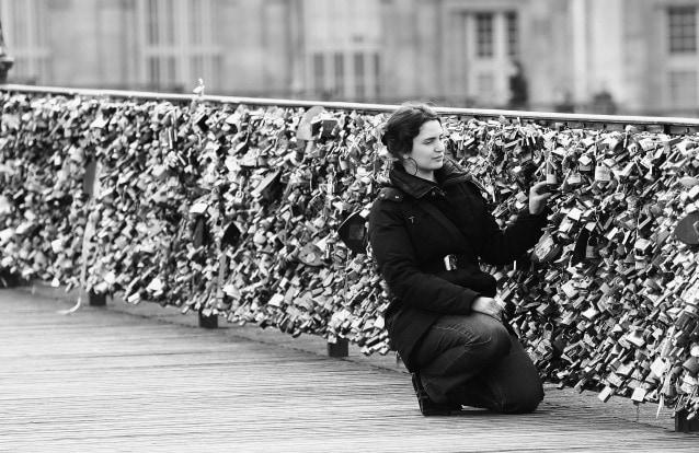 Love Padlocks On Paris Bridges (Photo by Vittorio Zunino Celotto/Getty Images)