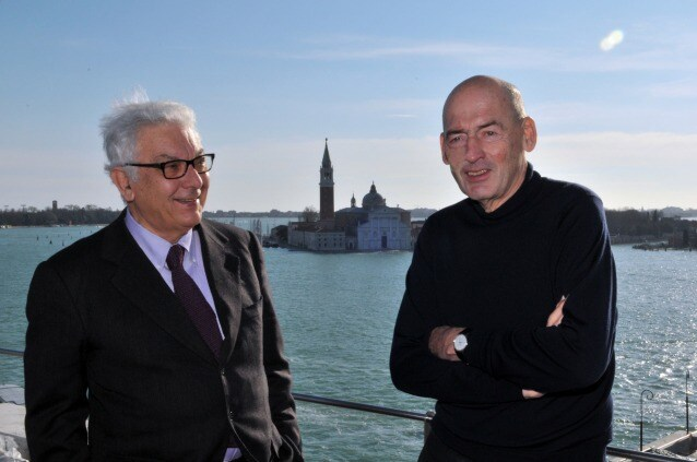 Paolo Baratta – Rem Koolhaas. Photo G. Zucchiatti