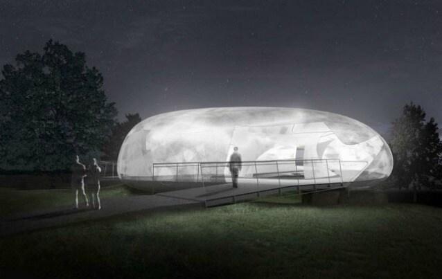 Serpentine Galleries Pavilion 2014 designed by Smiljan Radic–Indicative external CGI, Serpentine Gallery, London (26 June – 19 October 2014). Image © 2014 Smiljan Radic Studio