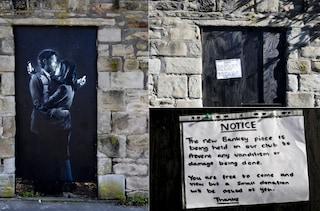 L'ultimo Banksy rimosso da un muro di Bristol