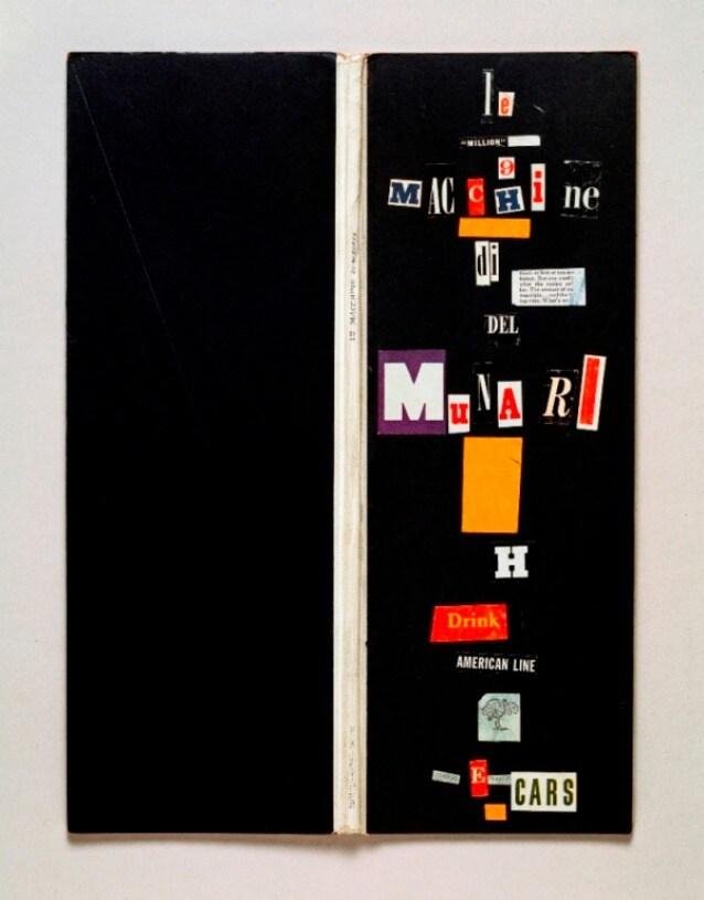 B.Munari, Le macchine di Munari, 1941, copertina a collage, sedici pagine, cm 12,5x34,5x1. Courtesy Fondazione J.Vodoz e B.Danese. Foto Roberto Marossi.jpg