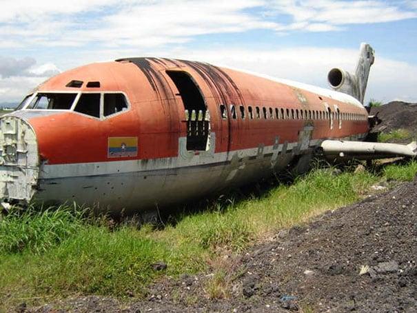 Il Boeing 727 prima della trasformazione