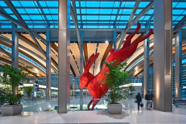 Lawrence Argent– Leap, Sacramento Airport