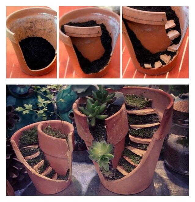 Come trasformare vasi rotti in oggetti utili e belli for Oggetti da creare in casa