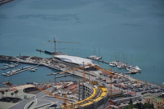 Cantiere della Stazione Marittima di Zaha Hadid, Salerno