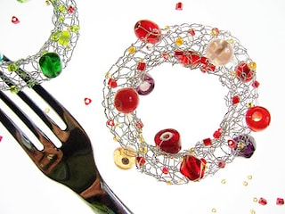 Segnaposto per Capodanno 2010, perline scintillanti per la tua tavola
