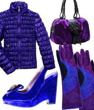 I colori dell'inverno, capi e accessori in viola e blu shocking