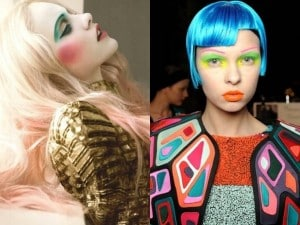 sopracciglia colorate di moda