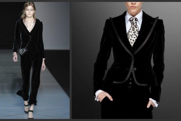 Velluto per Armani e Dolce&Gabbana