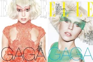 Lady Gaga in Alexander McQueen per Elle Uk