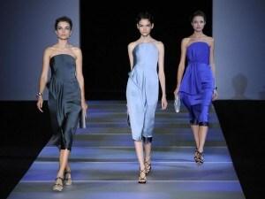 Settimana della moda, sfilata Giorgio Armani