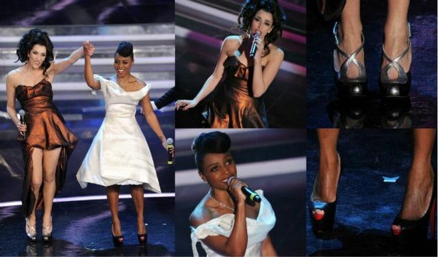 NJina Zilli alla terza serata di Sanremo 2012