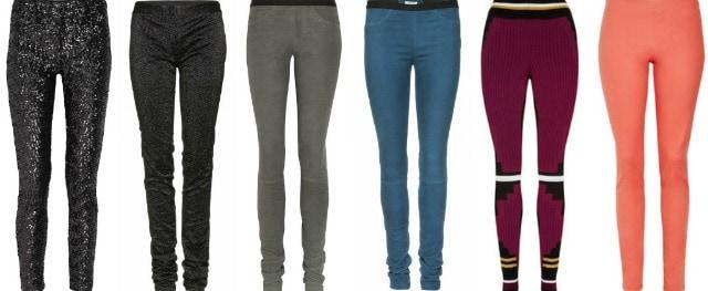 Leggings firmati jeans e paillettes