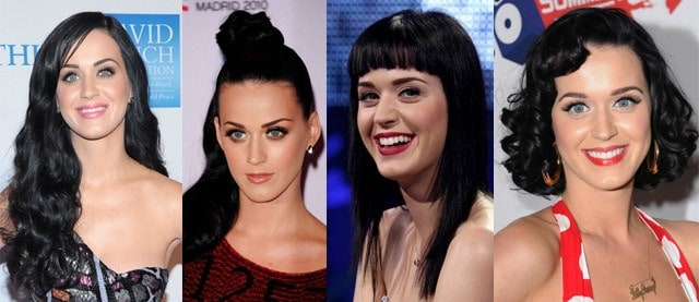 katy perry acconciature