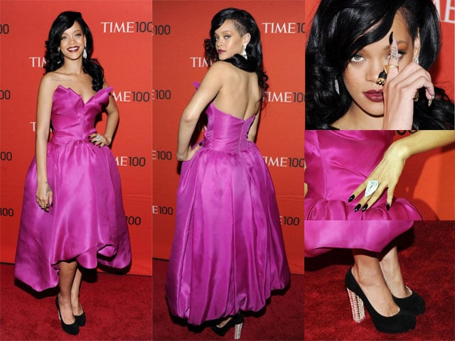 Rihanna in Marchesa al Gala del Time