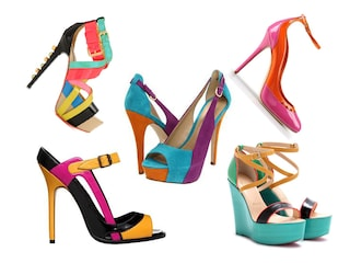 Scarpe in color block per l'estate 2012