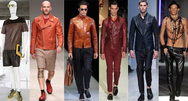 Milano Moda Uomo 2013 pelle per l'estate