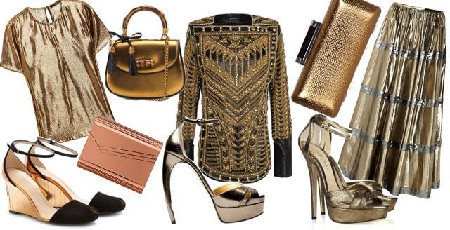 Abiti e accessori bronzo rame primavera estate 2012