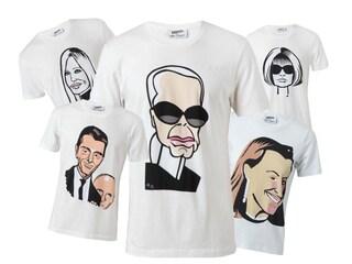 Anna, Karl e Miuccia... su una T-shirt