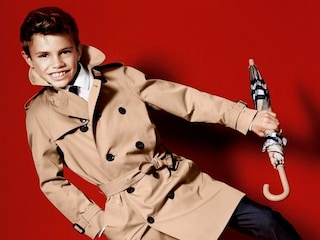 Romeo Beckham baby modello per Burberry