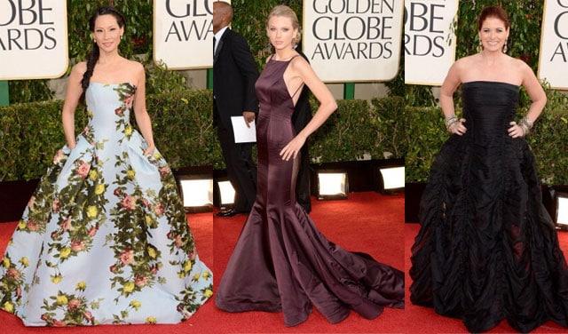 Lucy-liu-Taylor-Swift-Debra-messing-look-Golden-globe-2013